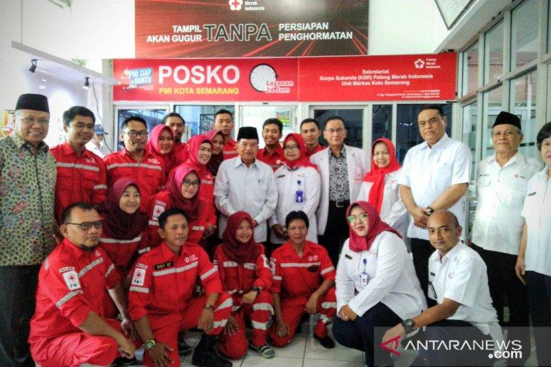 Jusuf Kalla apresiasi kinerja pelayanan PMI Jateng