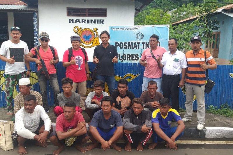 10 nelayan pengebom ikan di Flores Timur masih diperiksa Lanal Maumere