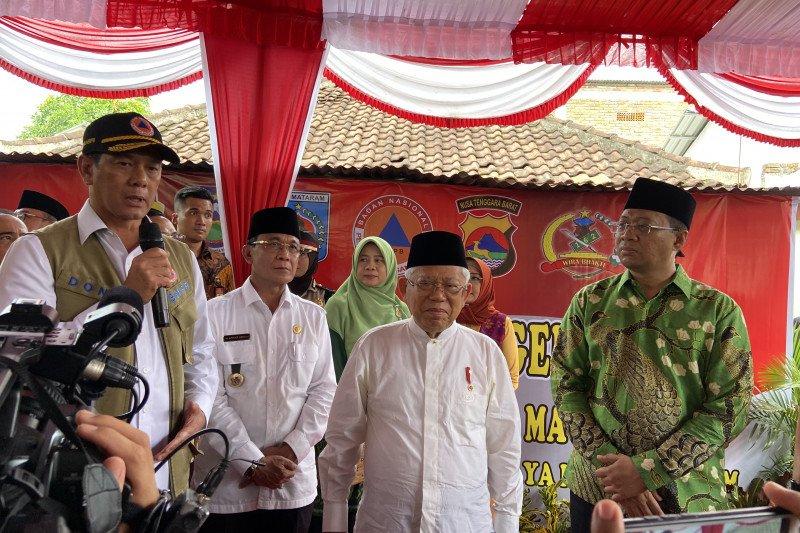 Wapres tinjau lokasi rekonstruksi pascagempa Lombok Barat
