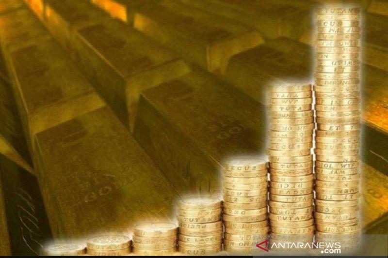 Emas bertahan di atas 1.600 dolar