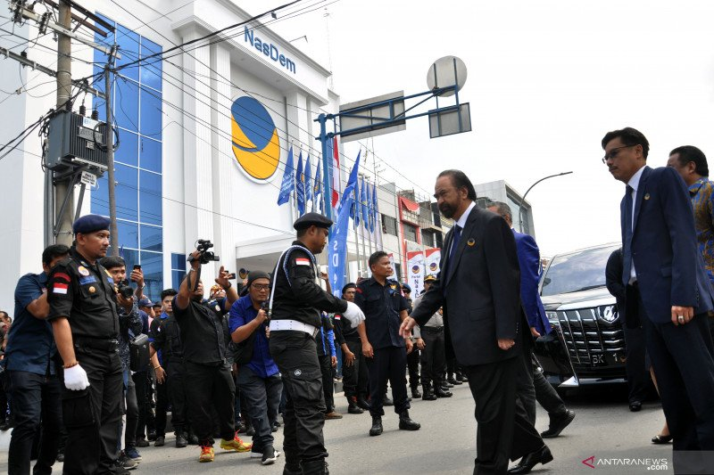 Peresmian gedung baru Partai NasDem Sumut