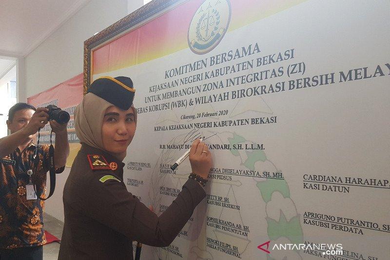Kejaksaan Bekasi canangkan zona integritas WBK dan WBBM