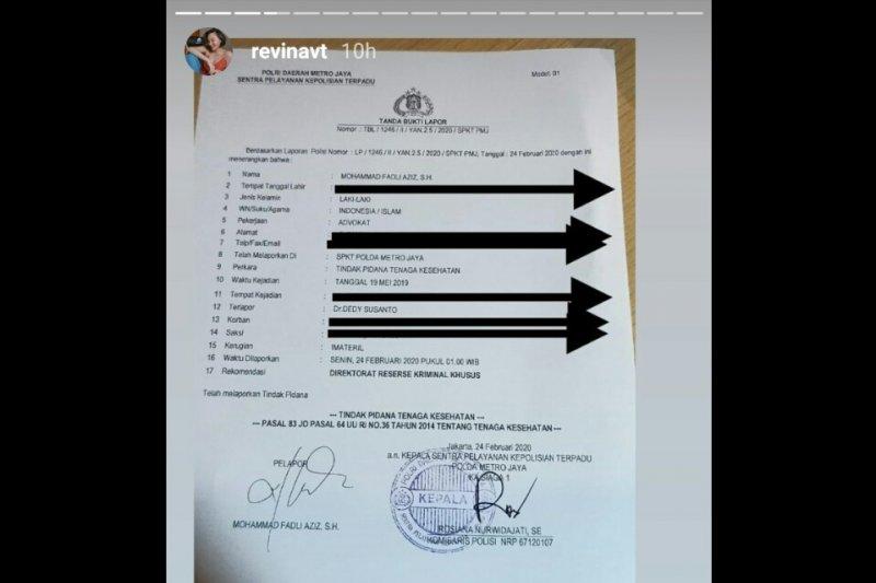 Motivator Dedy Susanto dilaporkan selebgram Revina VT ke polisi