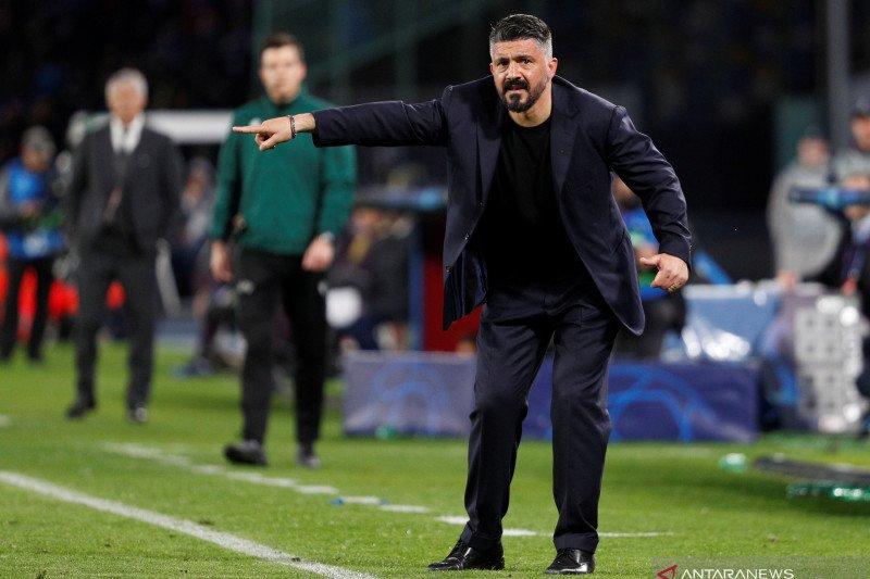 Pelatih Gattuso: Napoli sudah tidak sabar hadapi Barcelona di Camp Nou