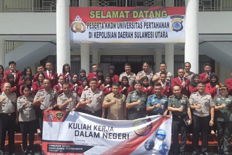 Mahasiswa Unhan melaksanakan KKDN di Polda Sulut