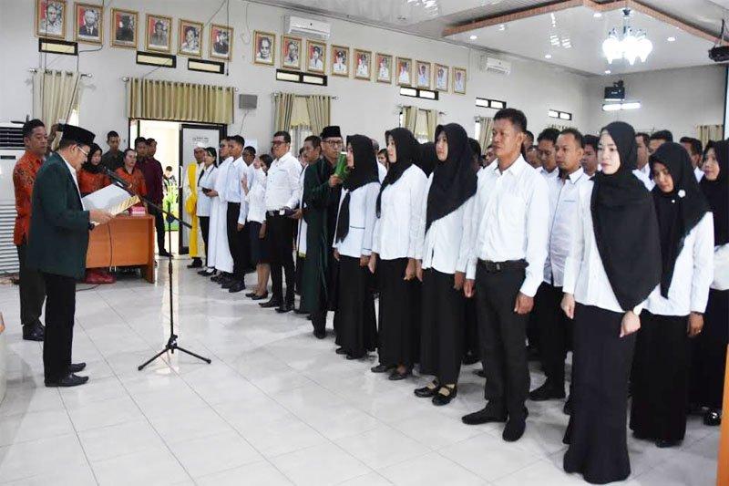 KPU Barito Utara lantik  PPK  sembilan kecamatan