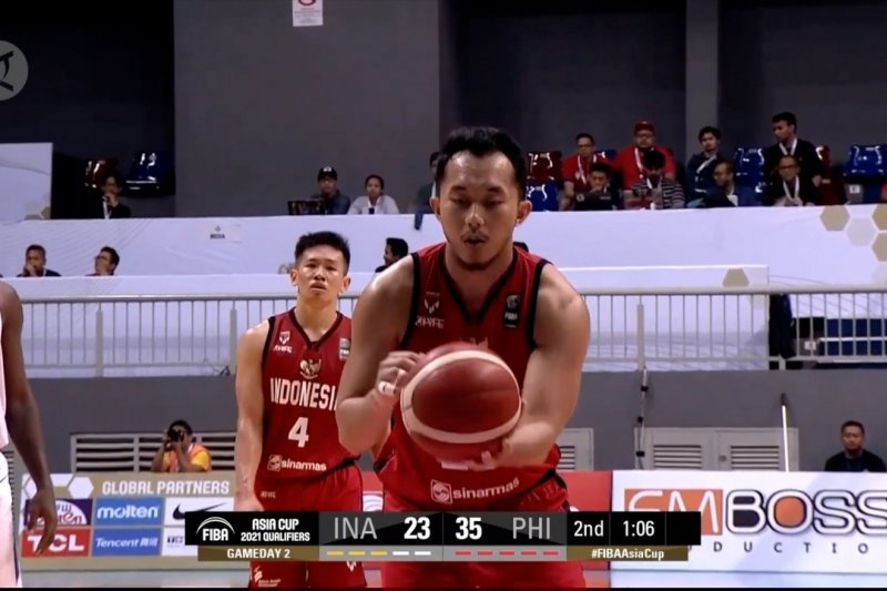 Kualifikasi FIBA Asia Cup 2021, Indonesia vs Filipina: 70-100