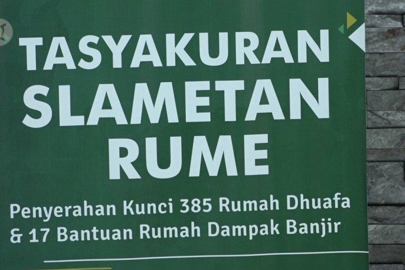 402 rumah bantuan untuk dhu'afa dan korban banjir di Jakarta