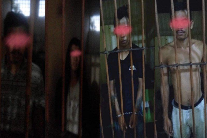 Empat preman sering palak di toko-toko Dompu ditangkap