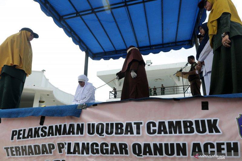Eksekusi cambuk pelanggar qanun jinayat