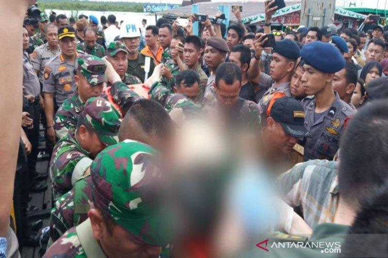 Dandim Kapuas Letkol Bambang Kristianto meninggal dunia akibat kecelakaan speed boat
