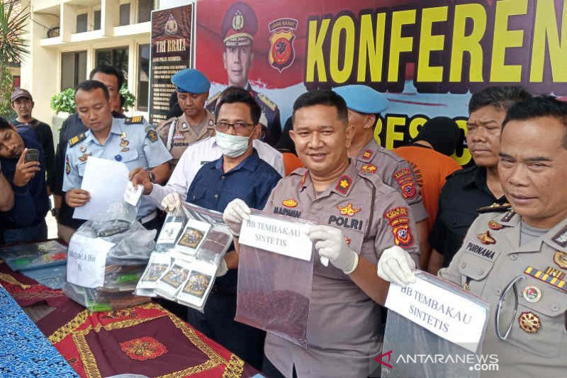 Polres Cirebon Kota tangkap seorang peracik tembakau gorila