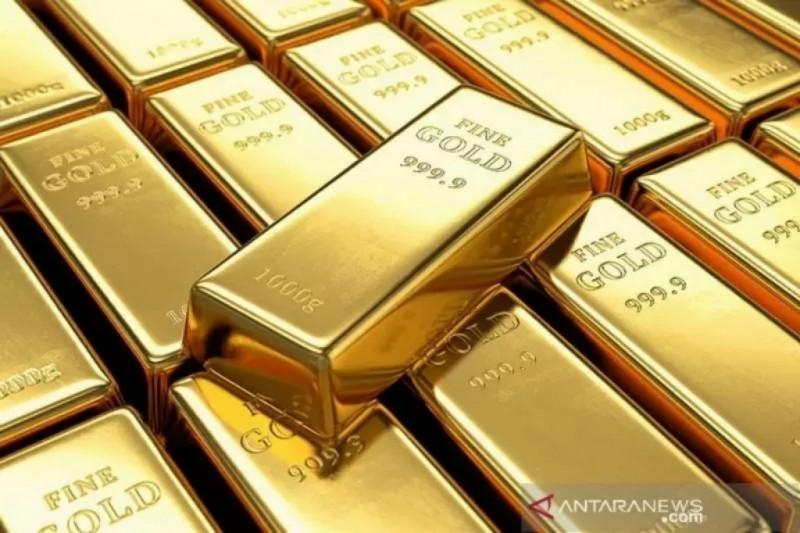 Emas jatuh 29 dolar karena sentimen risiko menguat