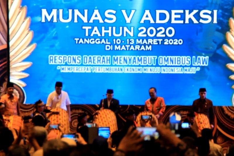 Wapres RI membuka Munas V Adeksi di Mataram