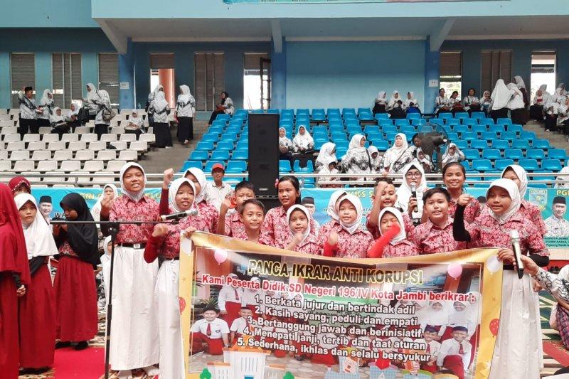 Kota Jambi budayakan pendidikan anti korupsi sejak dini