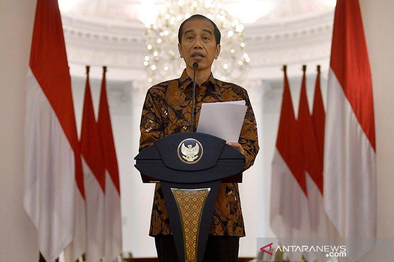 Jokowi: Saatnya bekerja, belajar, dan beribadah di rumah