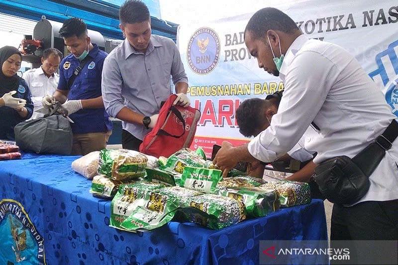 BNN Aceh musnahkan narkoba senilai Rp26 miliar