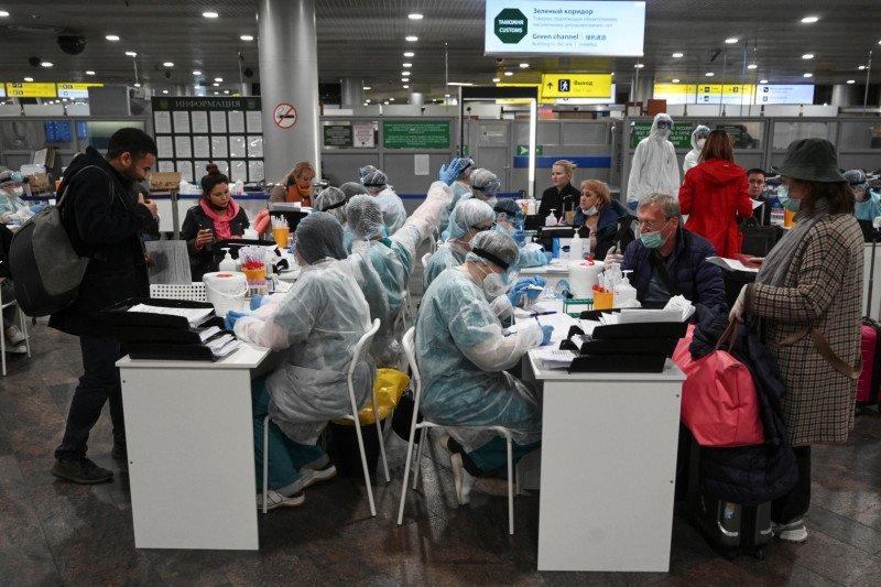 Rusia perluas tes kilat COVID-19 ke bandara-bandara utama