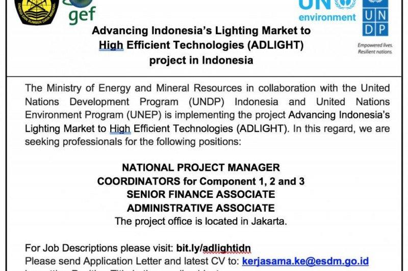 Hasil Seleksi Tahap I Lowongan Project Management Unit (PMU) Program ADLIGHT