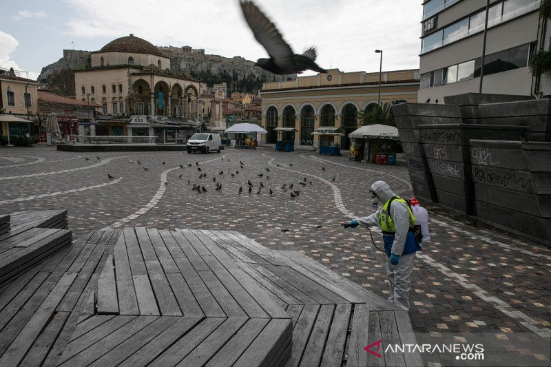 Begini suasana kota Athena setelah