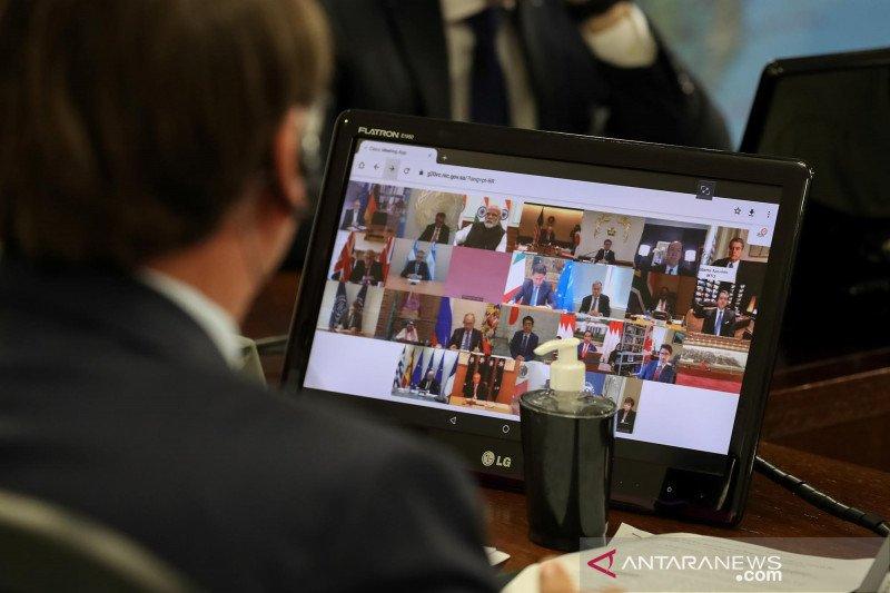 Para pemimpin dunia mengikuti KTT G20 secara virtual