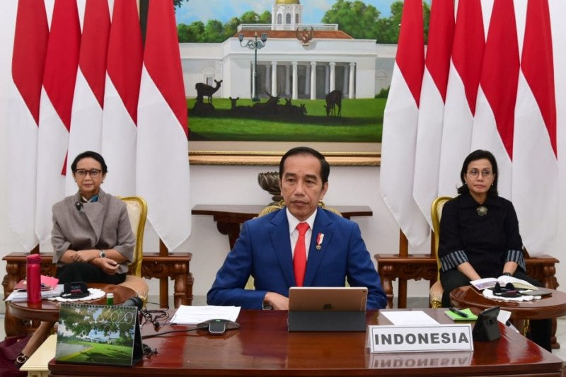 Jokowi ikuti KTT LB G20 dari Istana Bogor