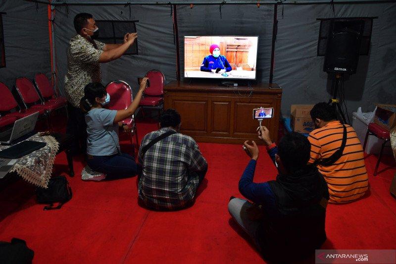 Peliputan konferensi pers Jatim