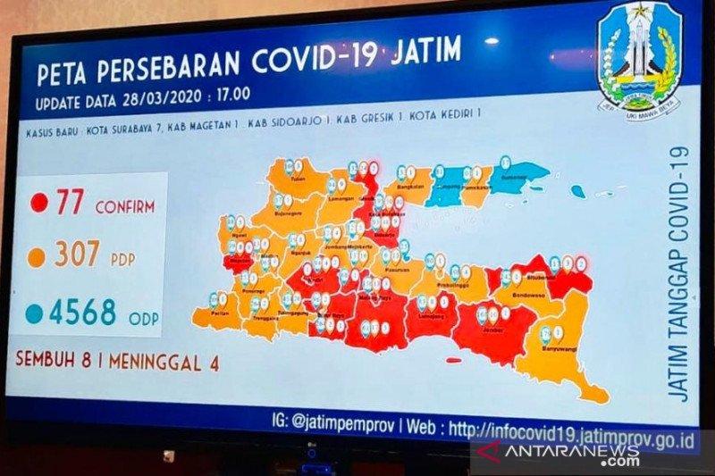 Gubernur Jatim: Kota Kediri masuk daerah terjangkit COVID-19