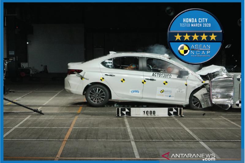 Honda City generasi 5 raih peringkat keselamatan maksimal ASEAN NCAP