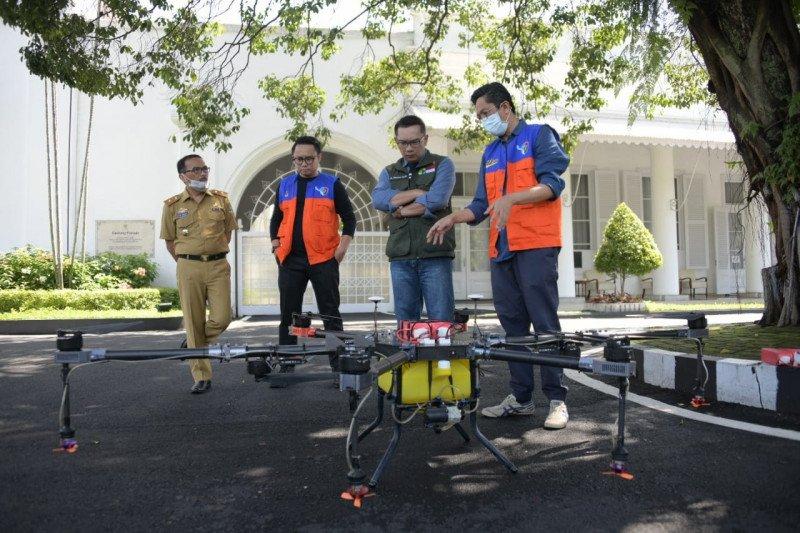 Pemprov Jabar manfaatkan drone untuk cegah virus corona