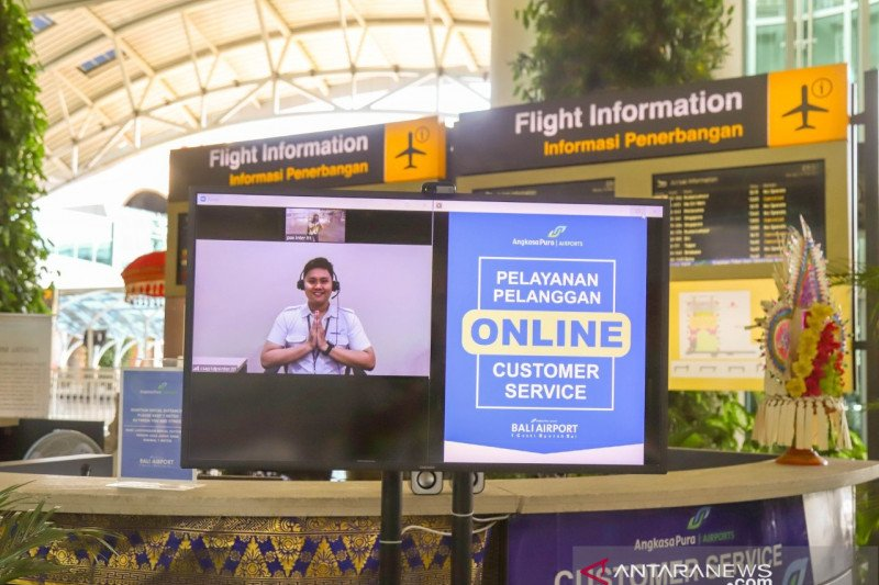 Cegah COVID, Bandara Ngurah Rai Bali terapkan layanan daring
