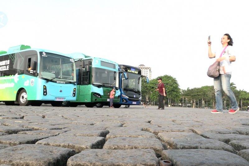Separuh bus TransJakarta ditargetkan berbasis listrik di tahun 2025