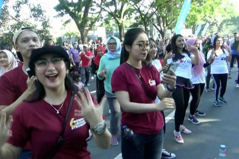 CFD di Malang jalan terus, jadi arena kampanye hidup sehat