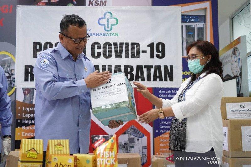 KKP salurkan bantuan protein bagi tenaga medis sejumlah RS di Jakarta