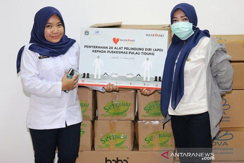 Bank DKI berikan Alat Pelindung Diri Ke tenaga medis Pulau Tidung