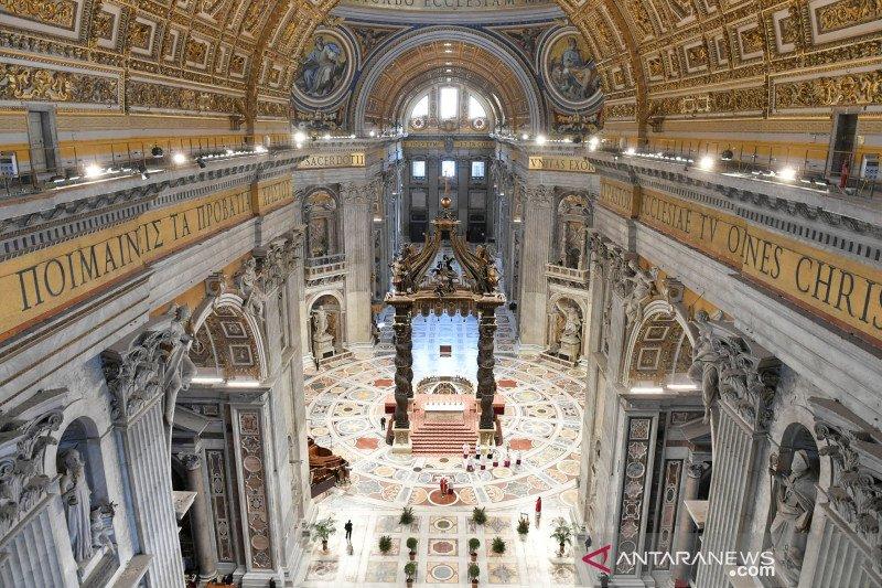 Misa Minggu Palma di Vatikan tanpa kehadiran jemaah