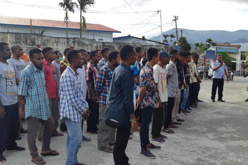Warga binaan Lapas Abepura 145 orang jalani asmilasi, terkait COVID-19