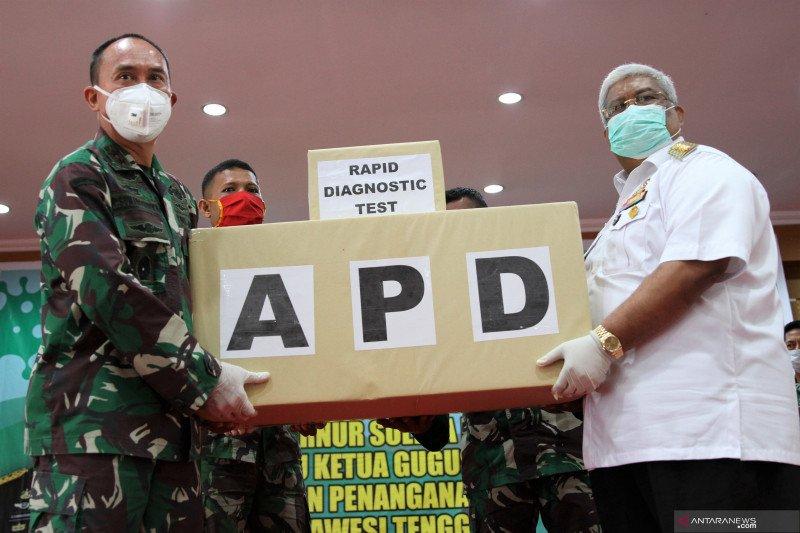 Pangdam XIV Hasanuddin beri bantuan APD