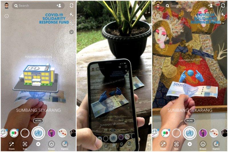 """Pengguna Snapchat bisa donasi dengan pengalaman """"augmented reality"""""""