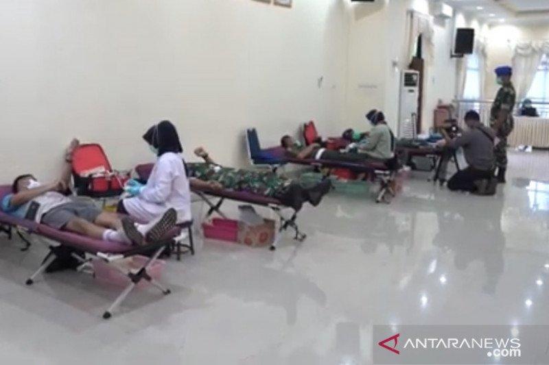 Puspomad gelar donor darah libatkan 238 personel TNI AD