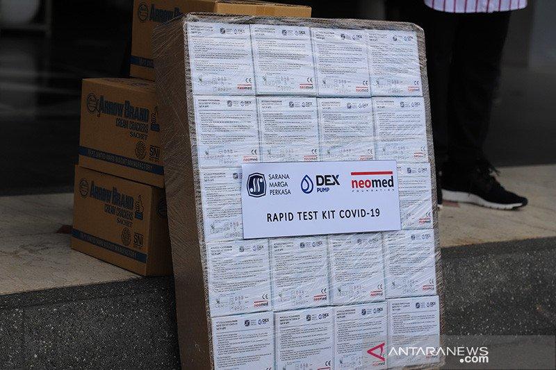 1.000 alat tes cepat siap dibagikan ke rumah sakit di Surabaya
