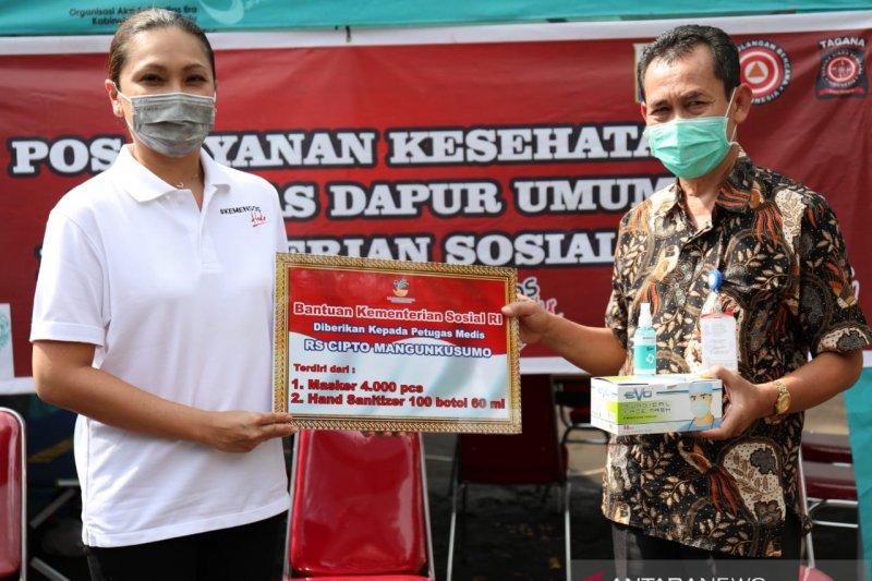 Kemensos bagikan 12.000 masker dan 600 hand sanitizer ke 3 rumah sakit
