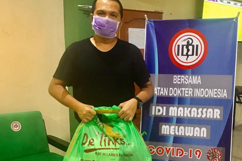 IDI Makassar dapat bantuan APD dari toko pakaian tanah Abang Jakarta