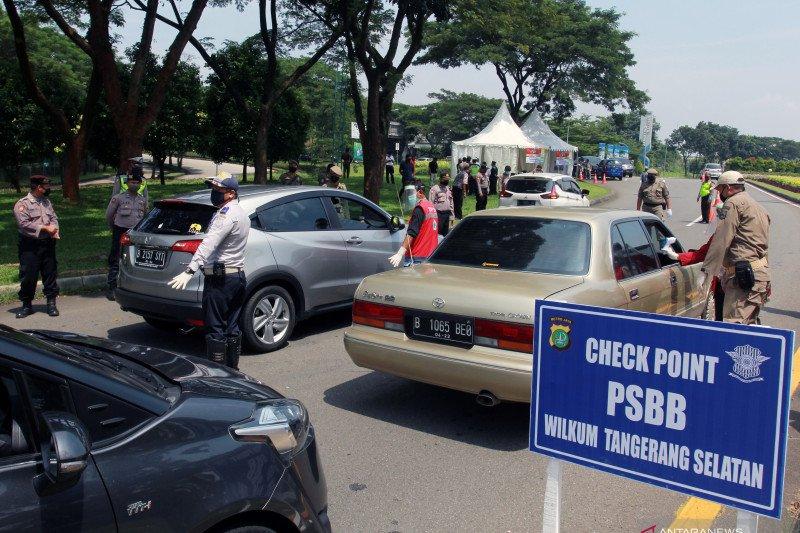 Hari pertama penerapan PSBB Tangerang Raya