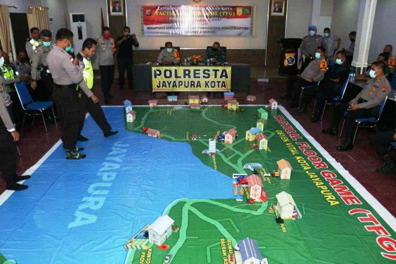 Polresta Jayapura Kota latihan TFG antisipasi PSBB cegah corona