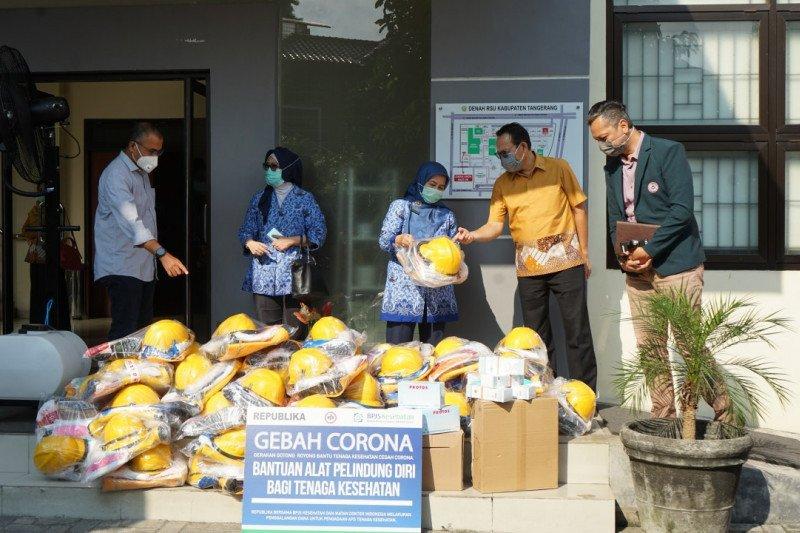 Gebah Corona salurkan bantuan APD ke RSUD Kabupaten Tangerang
