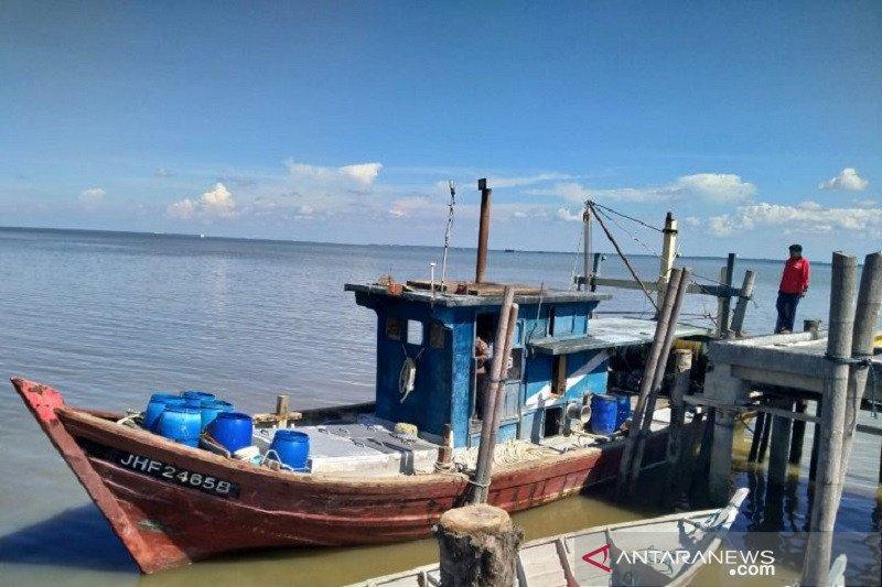 Polres Bengkalis amankan satu kapal pukat harimau asal Malaysia