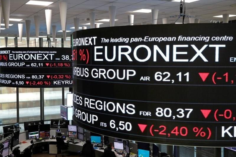 Saham Prancis di tutup jatuh, Indeks CAC 40 menyusut 0,84 persen