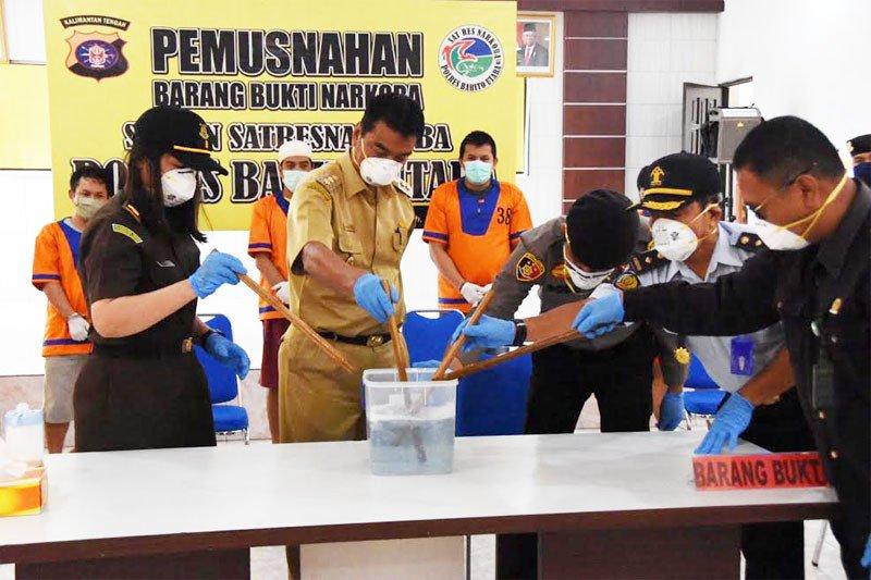 Polres Barito Utara musnahkan barang bukti sabu 10,25 gram