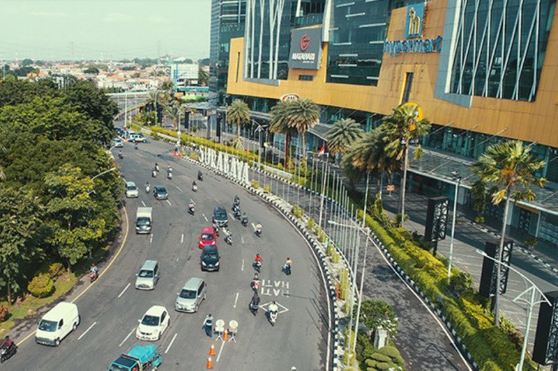 Tidak ada kepadatan kendaraan hari kedua PSBB di Surabaya